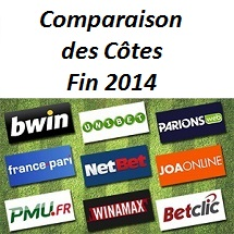 Comparateur de cotes fin 2014