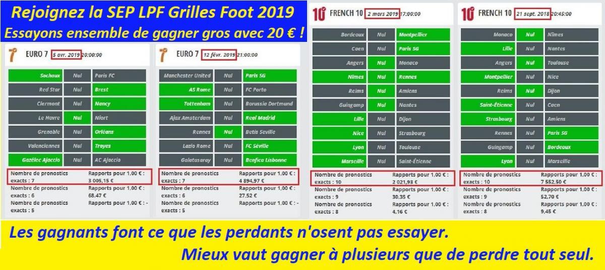 Matrice grilles foot 2